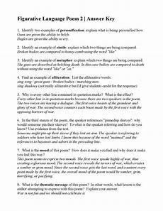 worksheets on figurative language in poetry 25440 marks poem marks poems 2019 02 12