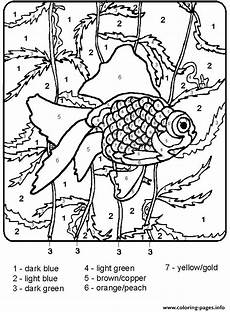 color by number worksheets adults 16064 print color by number fish for adults coloring pages coloring colors
