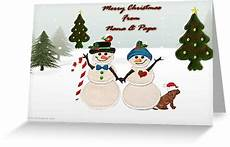 quot merry christmas from nana papa quot greeting card by ann12art redbubble