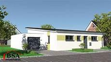 Moderne Bungalows Mit Pultdach - pultdach bungalow ambiente 105 schl 252 sselfertig bauen bsa