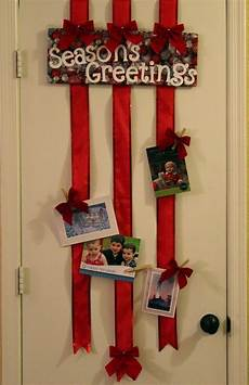 over the door ribbon christmas card holder no sticking to the wall via momen christmas