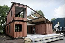 House Made Of Containers Simplicity And Ecological