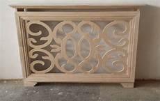 credenze legno grezzo copritermosifone traforato artigianale in legno grezzo