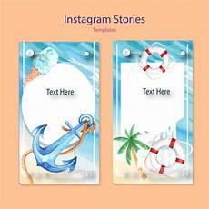 satz aquarell instagram vorlagen kostenlose vektor