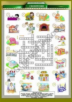 esl worksheets places in town 16001 places in town crossword esl worksheet by orhanmazman