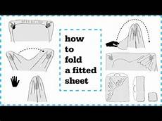 how to fold fitted sheets neatly youtube