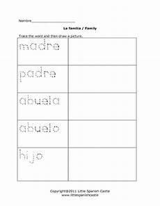 worksheets la familia 18350 la familia family worksheet for 1st 3rd grade lesson planet