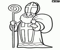 Ausmalbilder Bischof Nikolaus Malvorlagen Sankt Nikolaus Mit Kinder Geschenken