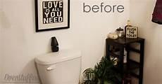 quick easy bathroom makeover overstuffed