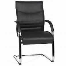 freischwinger stuhl mit armlehne finebuy freischwinger kunstleder schwarz besucherstuhl mit