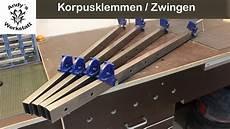 schraubzwinge selber bauen korpuszwinge schraubstockzwinge selber machen diy