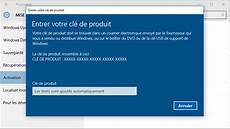 comment avoir windows 10 gratuit comment activer windows 10 avec une cl 233 de produit de