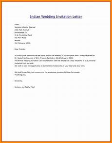 Wedding Invitation Letter To Friends