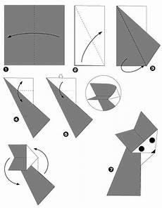 origami animaux facile diagramme origami renard facile animaux origami day