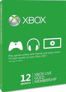 xbox live 12 month gold membership card accessories