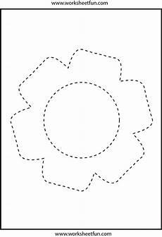 picture tracing flower 1 worksheet free printable worksheets worksheetfun