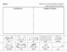 landforms bodies of water picture sort by learning little ones