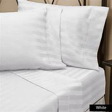 400tc single 1pc different deep pocket white striped fitted sheet home sizes ebay