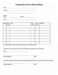 iberia parish probation community service sheet fill online printable fillable blank
