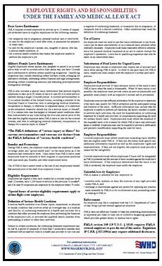 dol issues new fmla poster and forms