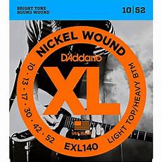 D Addario Exl140 Nickel Light Top Heavy Bottom Electric