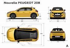 largeur d une voiture nouvelle peugeot 208 et 233 lectrique autosph 232 re