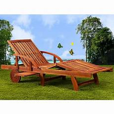 chaise longue tami sun en bois d acacia 200cm transat