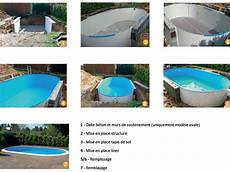 kit complet piscine enterrée kit piscine enterr 233 e aqualux acier ovale 7x3 50x1 50m sur