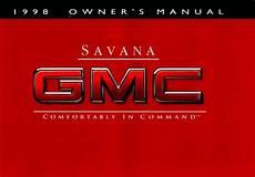 download car manuals pdf free 2000 gmc savana 3500 parking system gmc savana 1998 owner s manual pdf online download