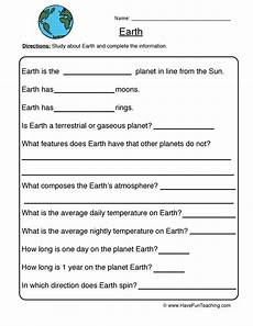 planet earth worksheets for kindergarten 14458 earth planet worksheet teaching