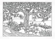 nature coloring pages 16353 items similar to printable tree river nature coloring page coloring for adults on etsy