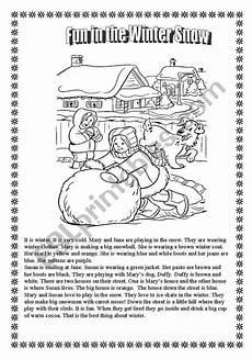 winter ela worksheets 19991 winter activity worksheets esl worksheet by libertybelle