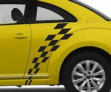 vw beetle car sticker racing checker flag custom side stripe graphic decal ebay