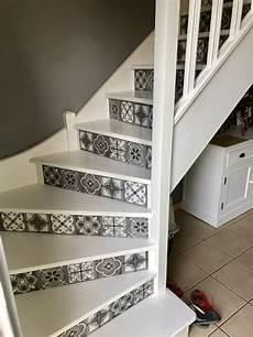 escalier carreaux de ciment en autocollant carreau de