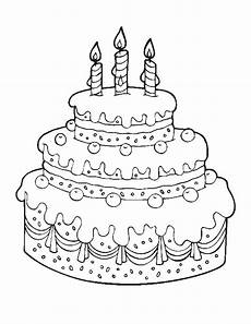 Malvorlagen Cake Printable Cake Happy Birthday Coloring Pages Free