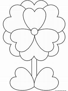 print out valentine s day flower coloring pages free printable coloring pages for kids free