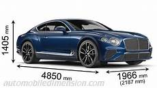 Bentley Continental Gt 2018 Dimensions Boot Space And