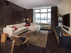 Modernes Wohnzimmer Braun - contemporary hoboken living room deleon hgtv