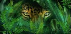 hidden deep inside a wild surprise you are being watched by jungle eyes this painting of