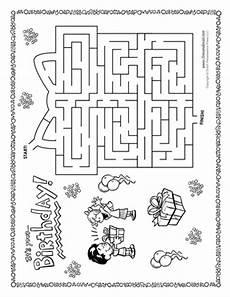 birthday object worksheet 20250 birthday maze tim s printables