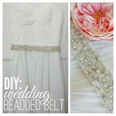 diy beaded belt tutorial wedding dress belt bliss n