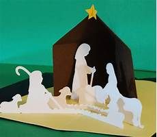 items similar to nativity christmas pop up card etsy
