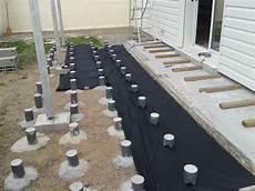 terrasse bois sur plot beton plot beton terrasse bois 6 impressionnant sur plots 0