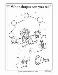 kindergarten preschool math worksheets clowning around connect the dots greatschools