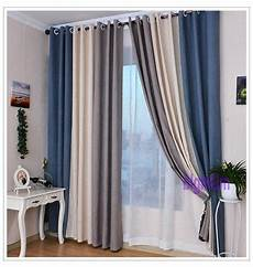 vorhang grau blau 2017 summer style linen curtains for living room blackout