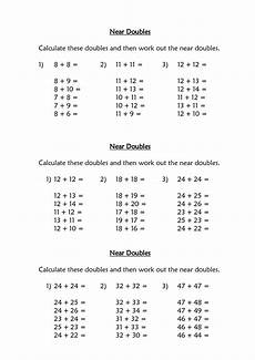 collection near doubles addition worksheet pictures