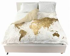 White And Gold Duvet Cover by Oliver Gal Quot Mapamundi White Gold Quot Duvet Reviews Houzz