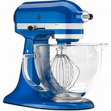 Mixer Glass Bowl by Kitchenaid Electric Blue Tilt Artisan Stand Mixer 5 Qt