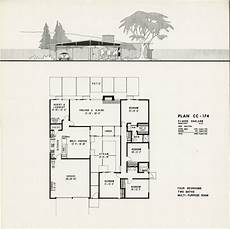 eichler house plans eichler plan cc 174 claude oakland eichler house plans