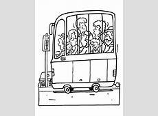 Kleurplaat Volle bus   Kleurplaten.nl